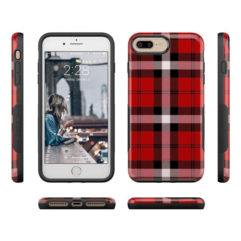As if! Red Plaid Case iPhone Case Get.Casely
