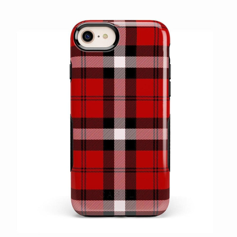 As if! Red Plaid Case iPhone Case Get.Casely Bold iPhone 8