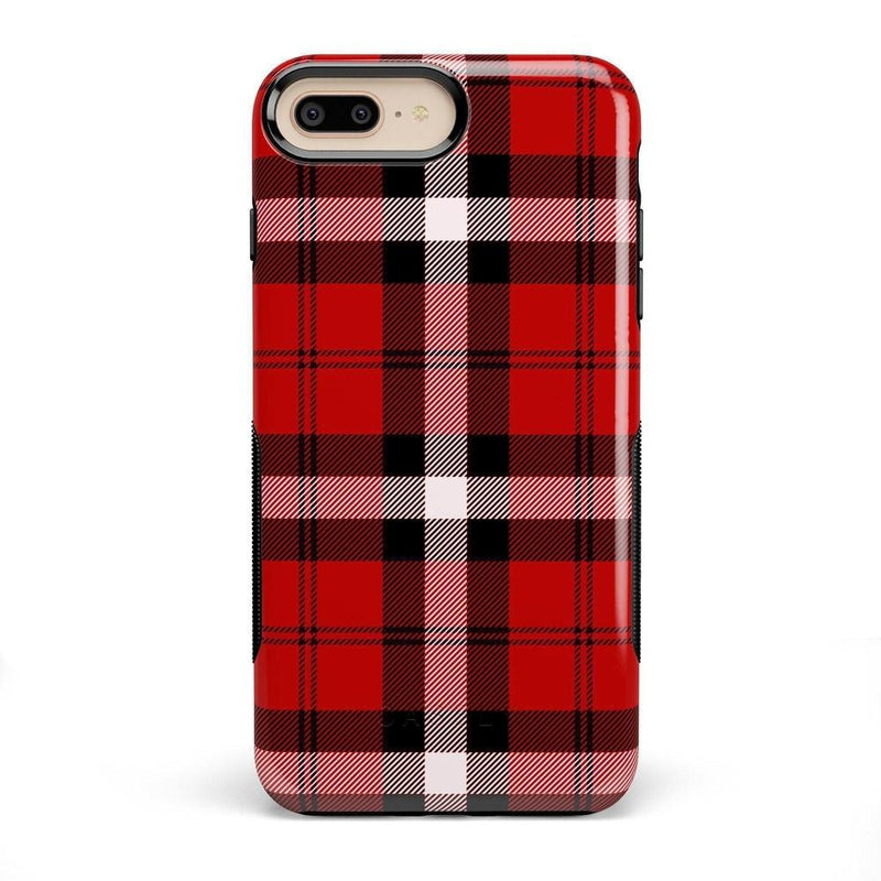 As if! Red Plaid Case iPhone Case Get.Casely Bold iPhone 8 Plus