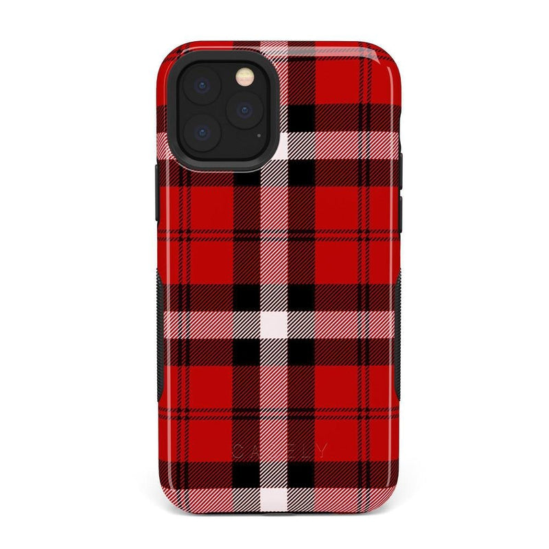 As if! Red Plaid Case iPhone Case Get.Casely Bold iPhone XI