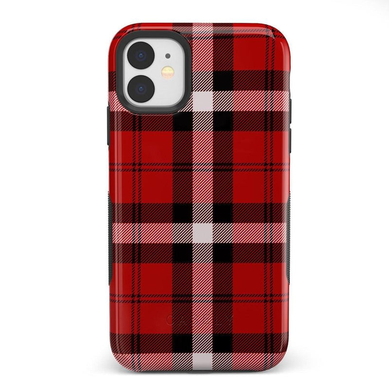 As if! Red Plaid Case iPhone Case Get.Casely Bold iPhone XIR
