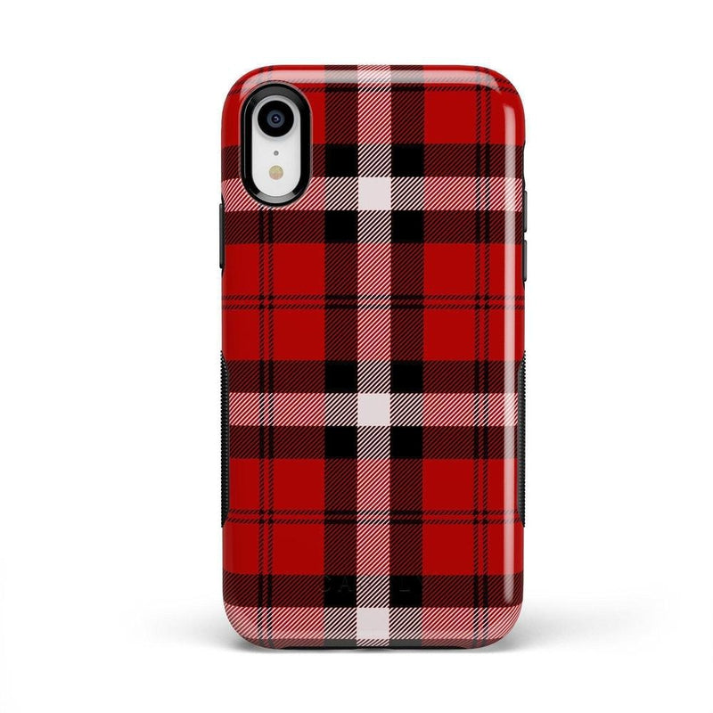 As if! Red Plaid Case iPhone Case Get.Casely Bold iPhone XR