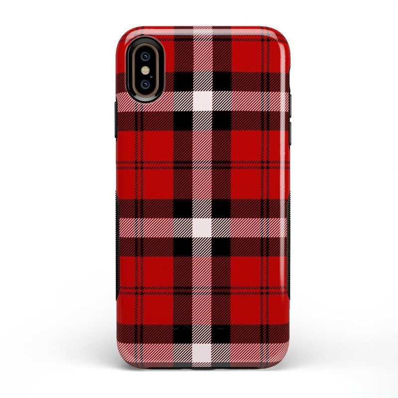 As if! Red Plaid Case iPhone Case Get.Casely Bold iPhone XS Max