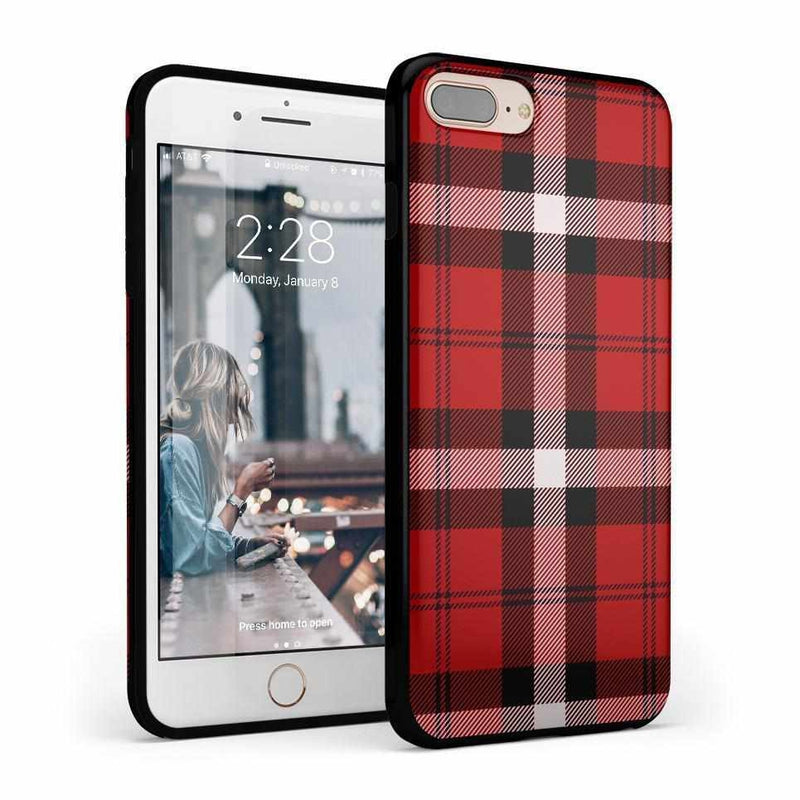 As if! Red Plaid Case iPhone Case Get.Casely Classic iPhone 6/6s Plus