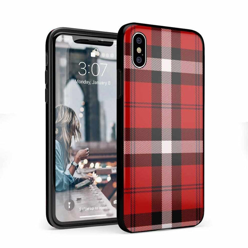 As if! Red Plaid Case iPhone Case Get.Casely Classic iPhone X / XS
