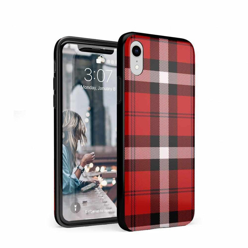 As if! Red Plaid Case iPhone Case Get.Casely Classic iPhone XR
