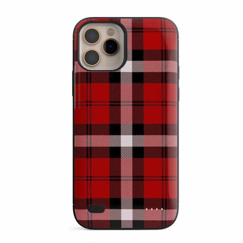 As if! Red Plaid Case iPhone Case Get.Casely Power iPhone 11 Pro