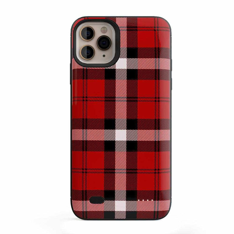 As if! Red Plaid Case iPhone Case Get.Casely Power iPhone 11 Pro Max