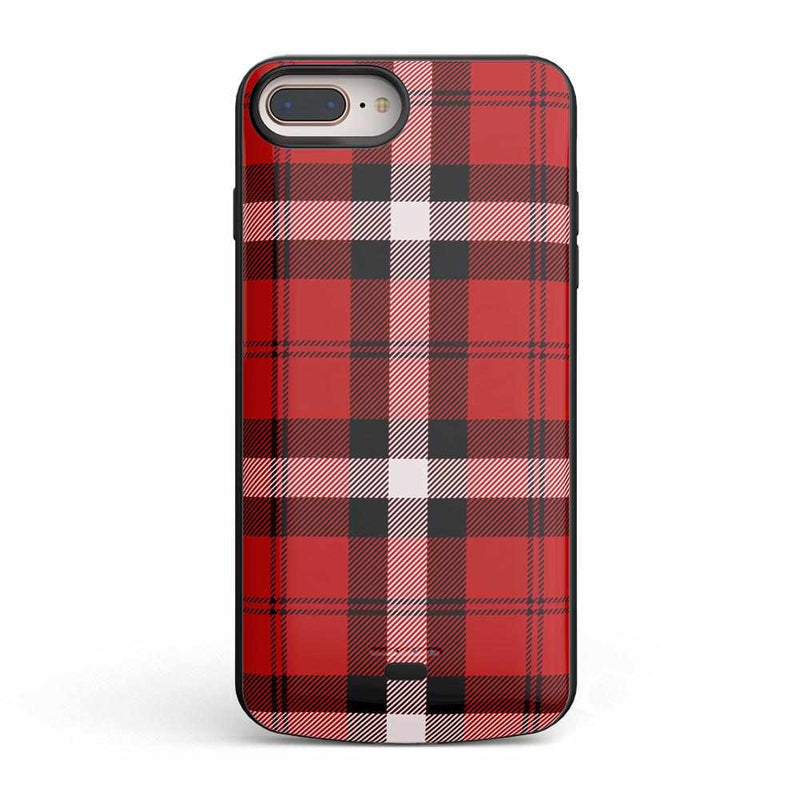 As if! Red Plaid Case iPhone Case Get.Casely Power iPhone 8 Plus