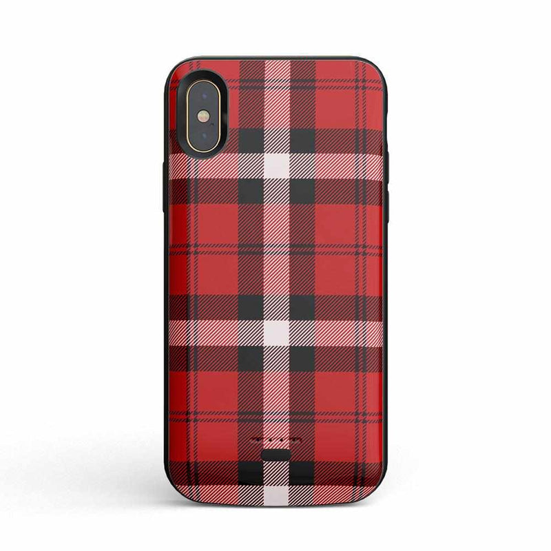 As if! Red Plaid Case iPhone Case Get.Casely Power iPhone XS Max