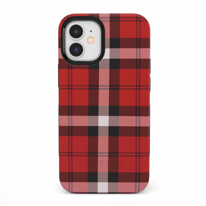 As if! Red Plaid iPhone Case iPhone Case get.casely Bold iPhone 12 Mini