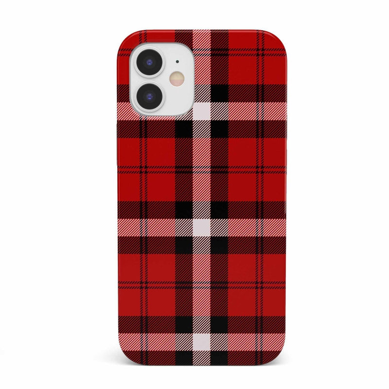 As if! Red Plaid iPhone Case iPhone Case get.casely Classic iPhone 12 Mini