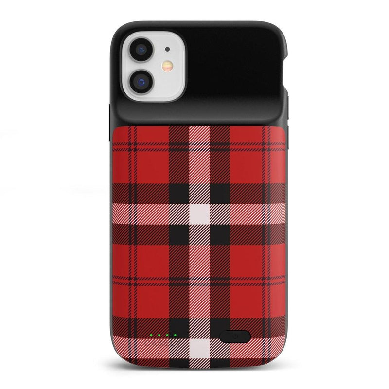 As if! Red Plaid iPhone Case iPhone Case get.casely Power 2.0 iPhone 11