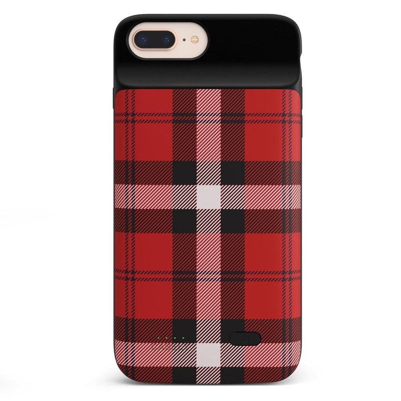 As if! Red Plaid iPhone Case iPhone Case get.casely Power 2.0 iPhone 8 Plus