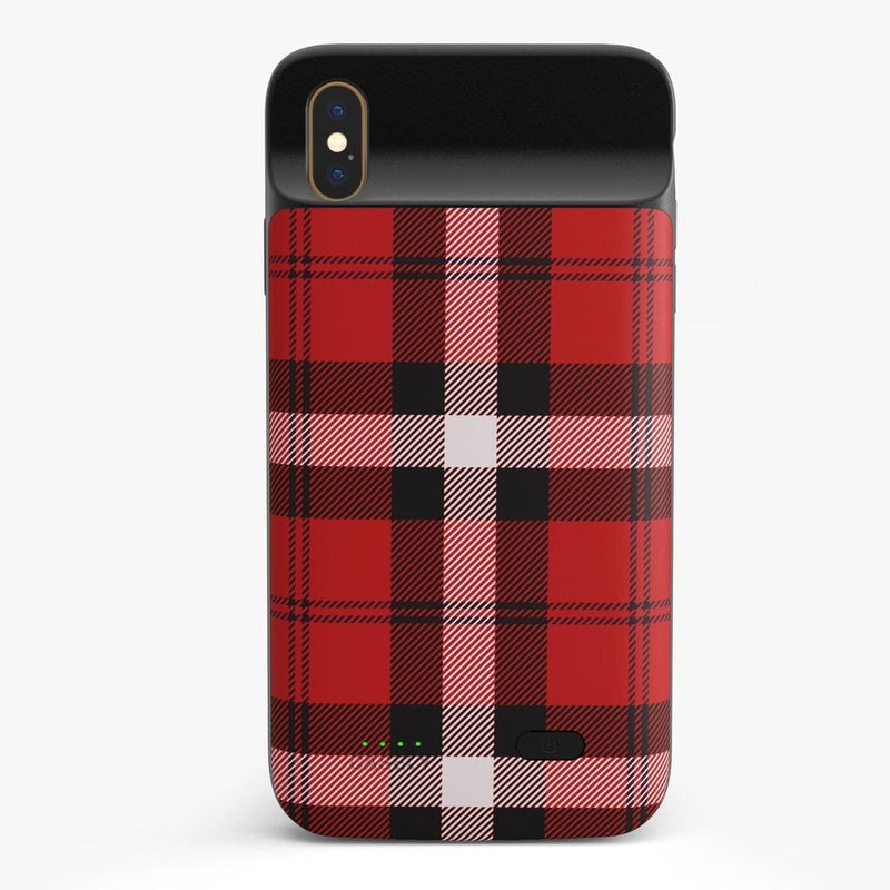 As if! Red Plaid iPhone Case iPhone Case get.casely Power 2.0 iPhone XS Max