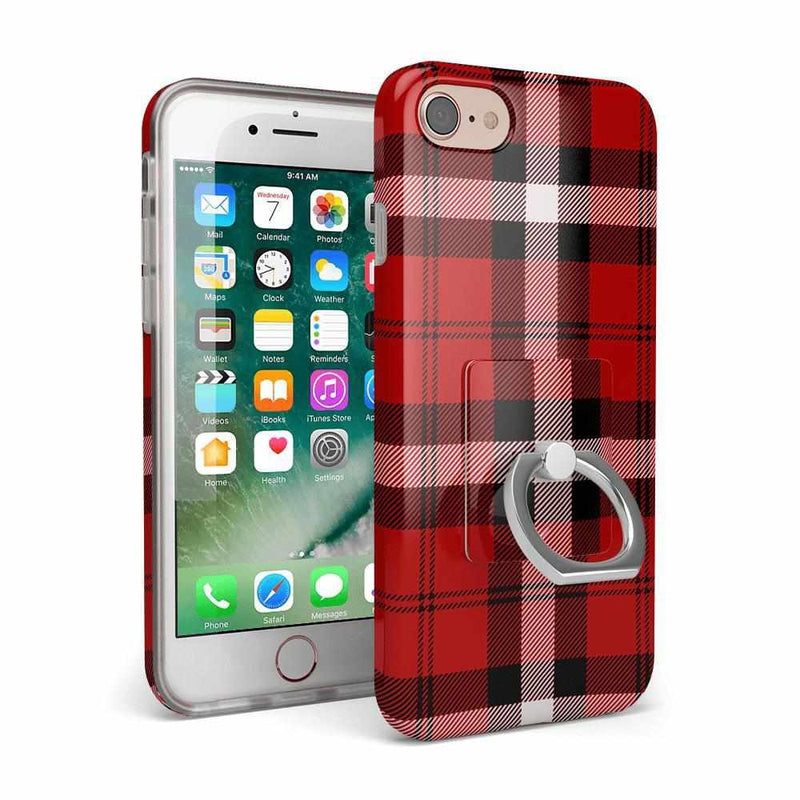 As if! Red Plaid Phone Ring Phone Ring get.casely