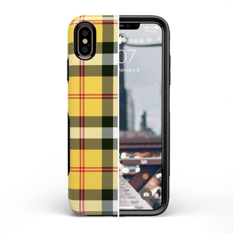 As if! Yellow Plaid iPhone Case iPhone Case Get.Casely