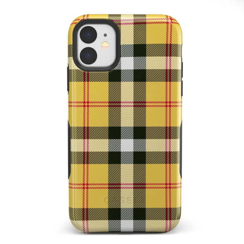 As if! Yellow Plaid iPhone Case iPhone Case Get.Casely Bold iPhone 11