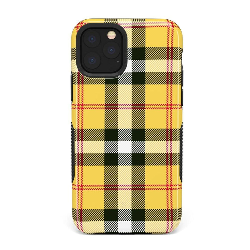 As if! Yellow Plaid iPhone Case iPhone Case Get.Casely Bold iPhone 11 Pro