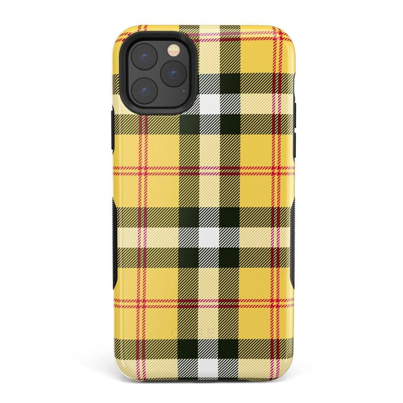 As if! Yellow Plaid iPhone Case iPhone Case Get.Casely Bold iPhone 11 Pro Max