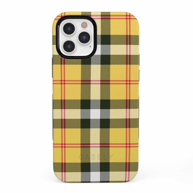 As if! Yellow Plaid iPhone Case iPhone Case get.casely Bold iPhone 12 Pro