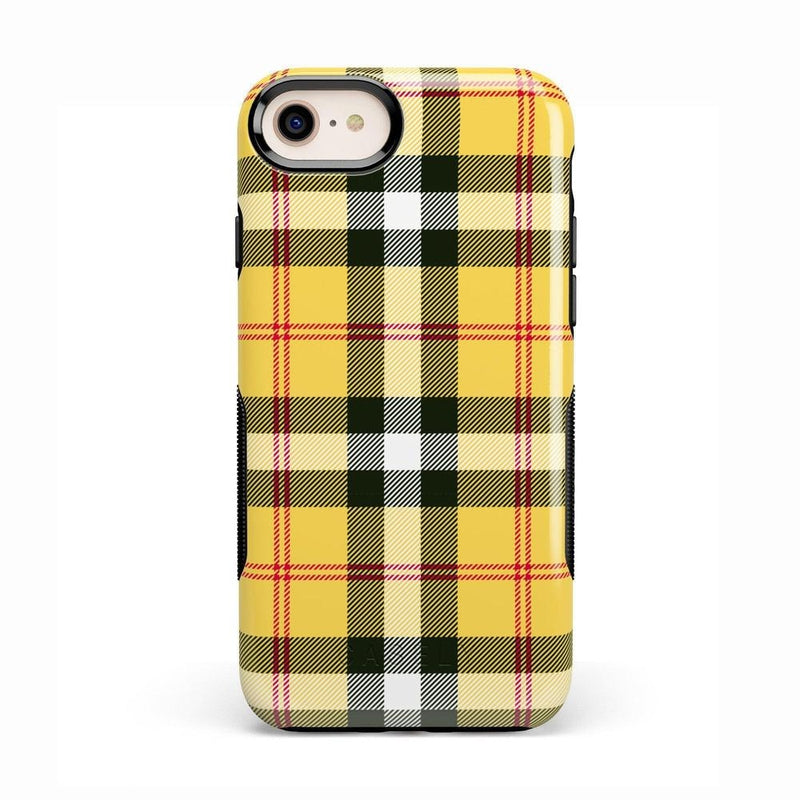 As if! Yellow Plaid iPhone Case iPhone Case Get.Casely Bold iPhone 8