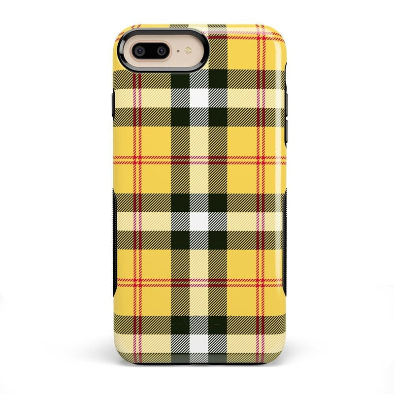 As if! Yellow Plaid iPhone Case iPhone Case Get.Casely Bold iPhone 8 Plus