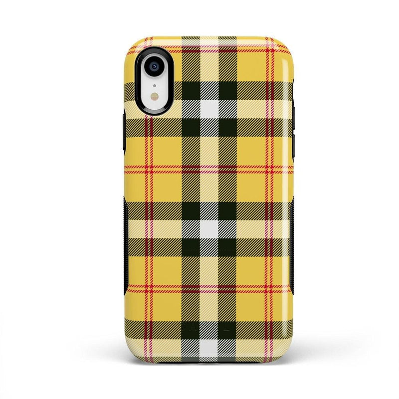 As if! Yellow Plaid iPhone Case iPhone Case Get.Casely Bold iPhone XR