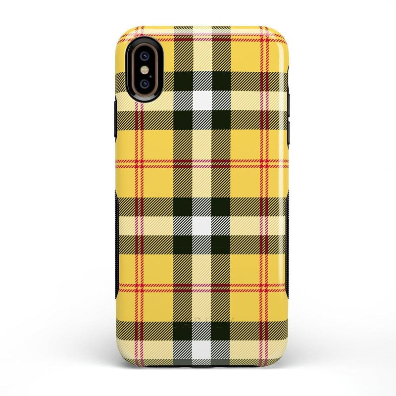 As if! Yellow Plaid iPhone Case iPhone Case Get.Casely Bold iPhone XS Max