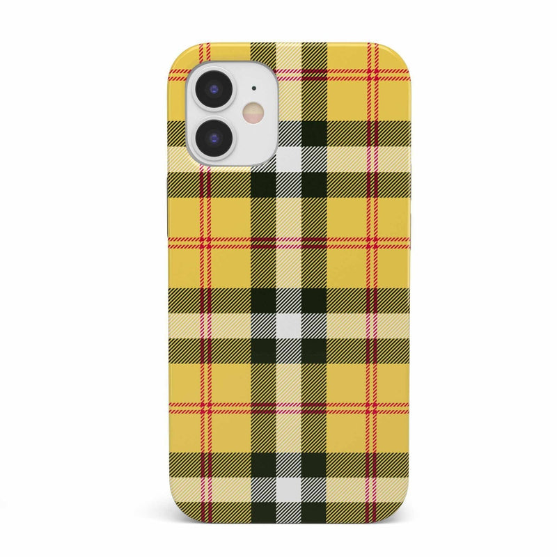 As if! Yellow Plaid iPhone Case iPhone Case get.casely Classic iPhone 12 Mini