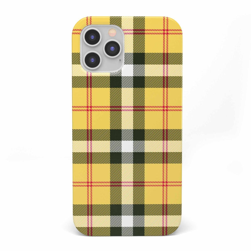 As if! Yellow Plaid iPhone Case iPhone Case get.casely Classic iPhone 12 Pro