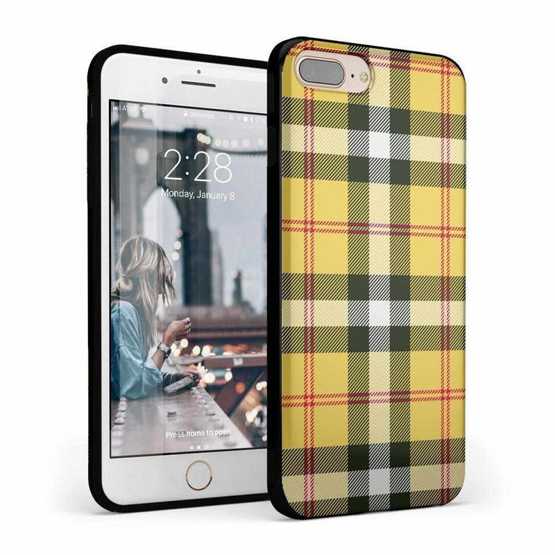 As if! Yellow Plaid iPhone Case iPhone Case Get.Casely Classic iPhone 6/6s Plus