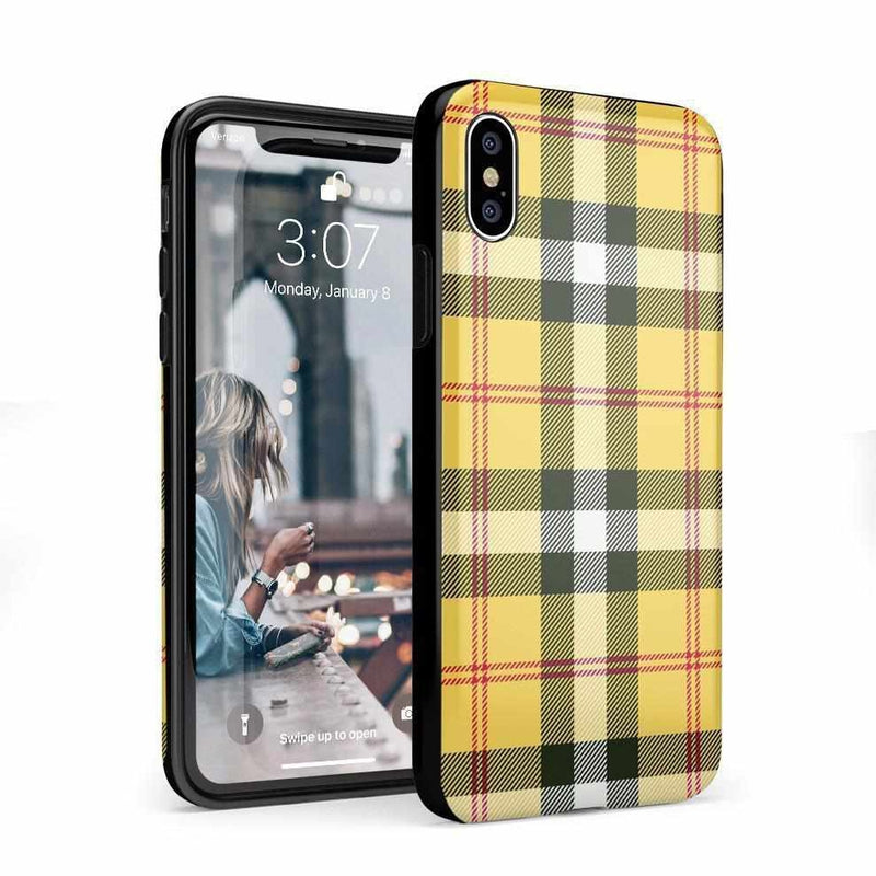 As if! Yellow Plaid iPhone Case iPhone Case Get.Casely Classic iPhone X / XS