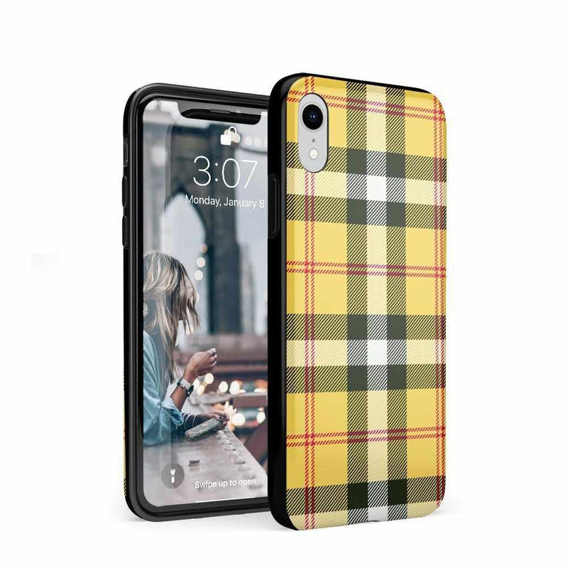 As if! Yellow Plaid iPhone Case iPhone Case Get.Casely Classic iPhone XR