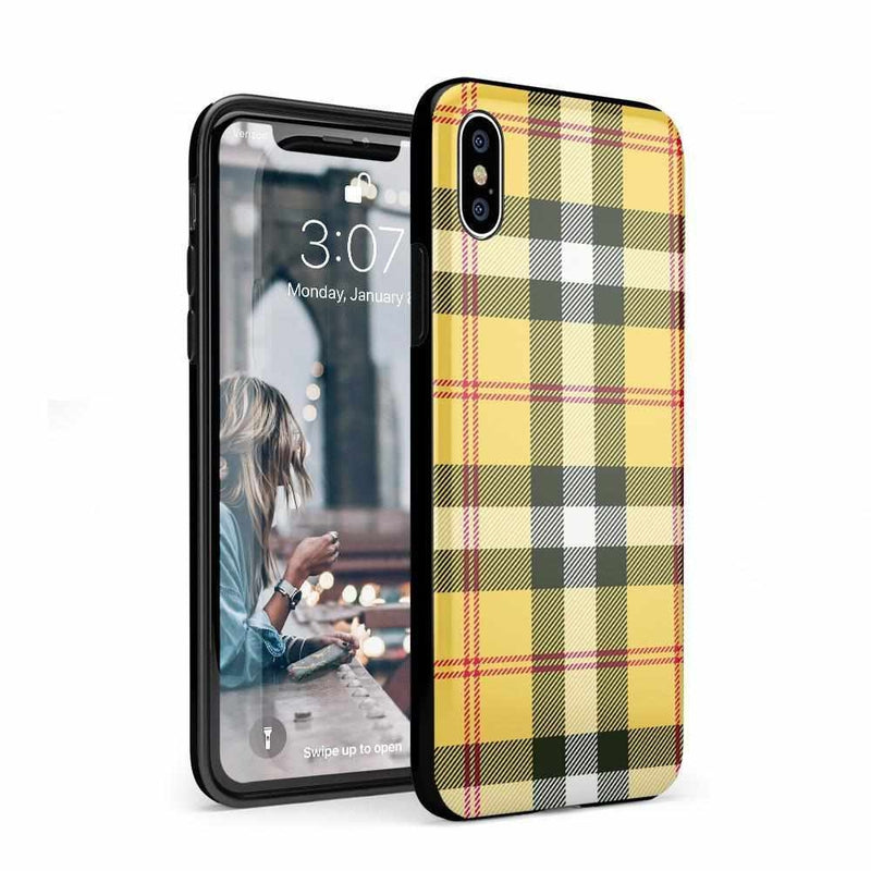 As if! Yellow Plaid iPhone Case iPhone Case Get.Casely Classic iPhone XS Max