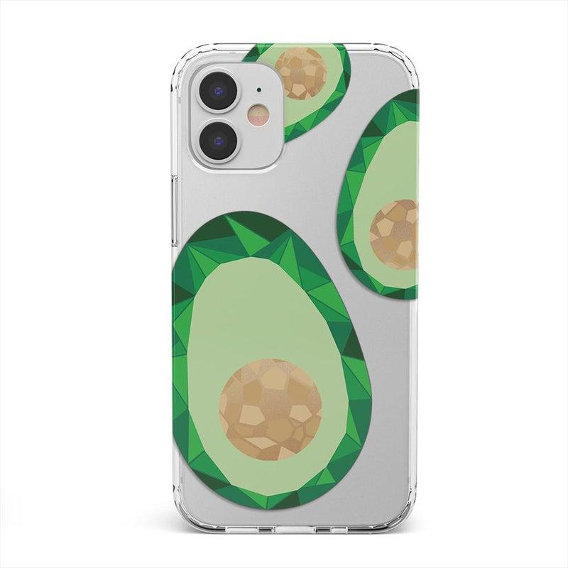 Clear avocado rose gold iPhone case
