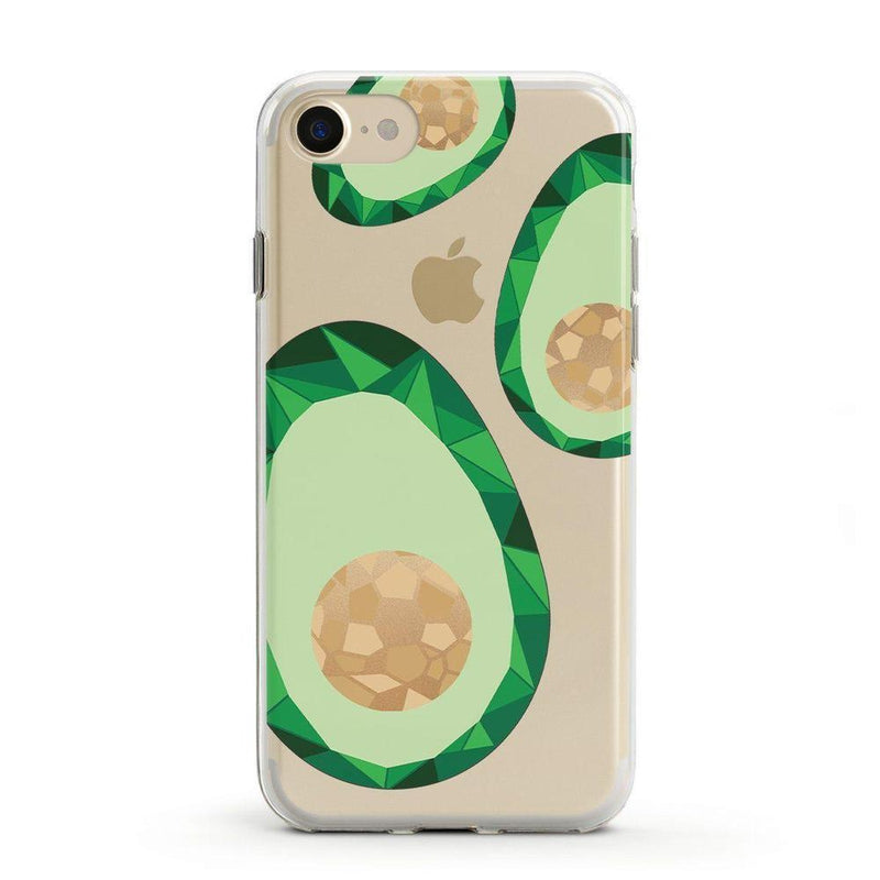 Avocado Rose Gold Clear Case iPhone Case Get.Casely Classic iPhone 6/6s