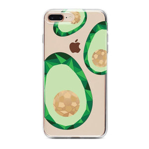 Avocado Rose Gold Clear Case iPhone Case Get.Casely Classic iPhone 6/6s Plus