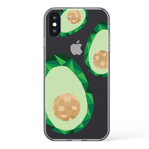 Avocado Rose Gold Clear Case iPhone Case Get.Casely Classic iPhone X / XS