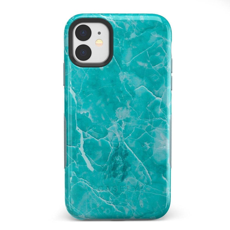 Beautiful Teal Blue Seaglass Case iPhone Case Get.Casely Bold iPhone 11