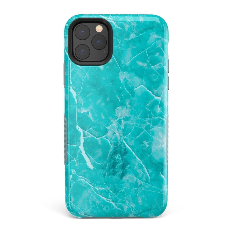 Beautiful Teal Blue Seaglass Case iPhone Case Get.Casely Bold iPhone 11 Pro Max