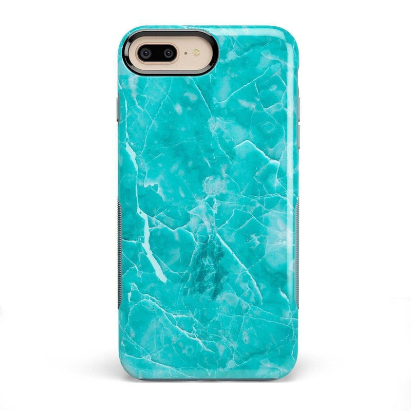 Beautiful Teal Blue Seaglass Case iPhone Case Get.Casely Bold iPhone 8 Plus