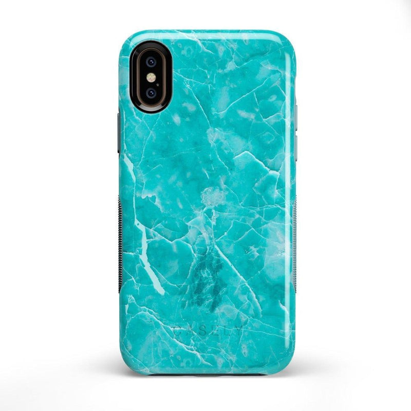Beautiful Teal Blue Seaglass Case iPhone Case Get.Casely Bold iPhone X / XS