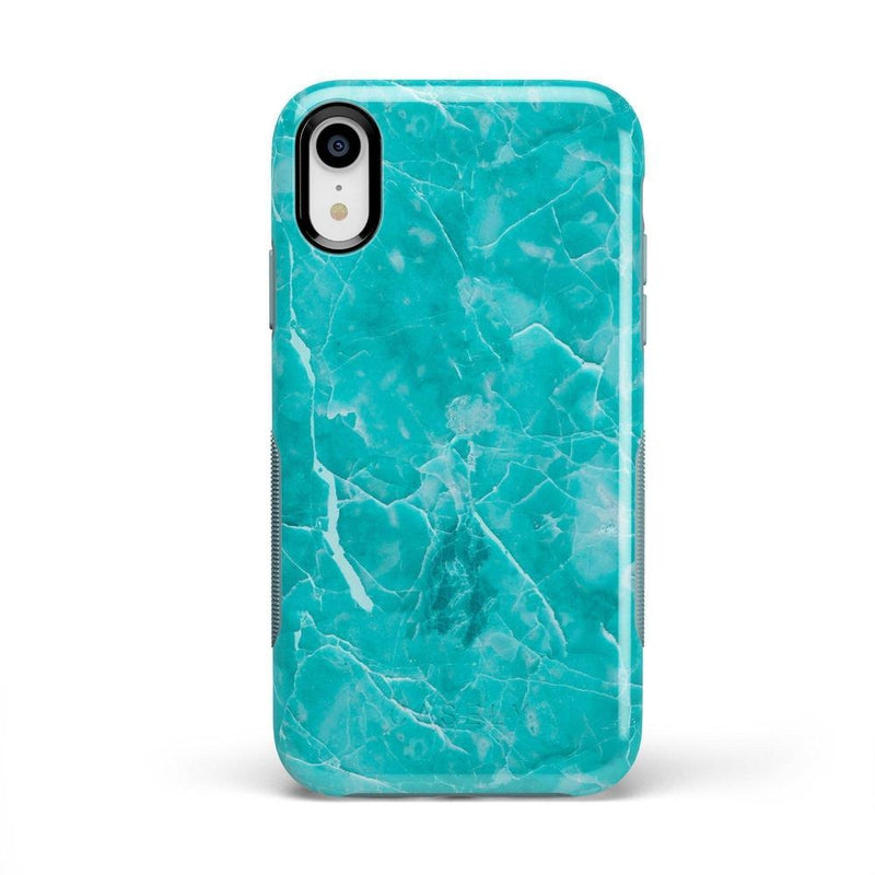 Beautiful Teal Blue Seaglass Case iPhone Case Get.Casely Bold iPhone XR