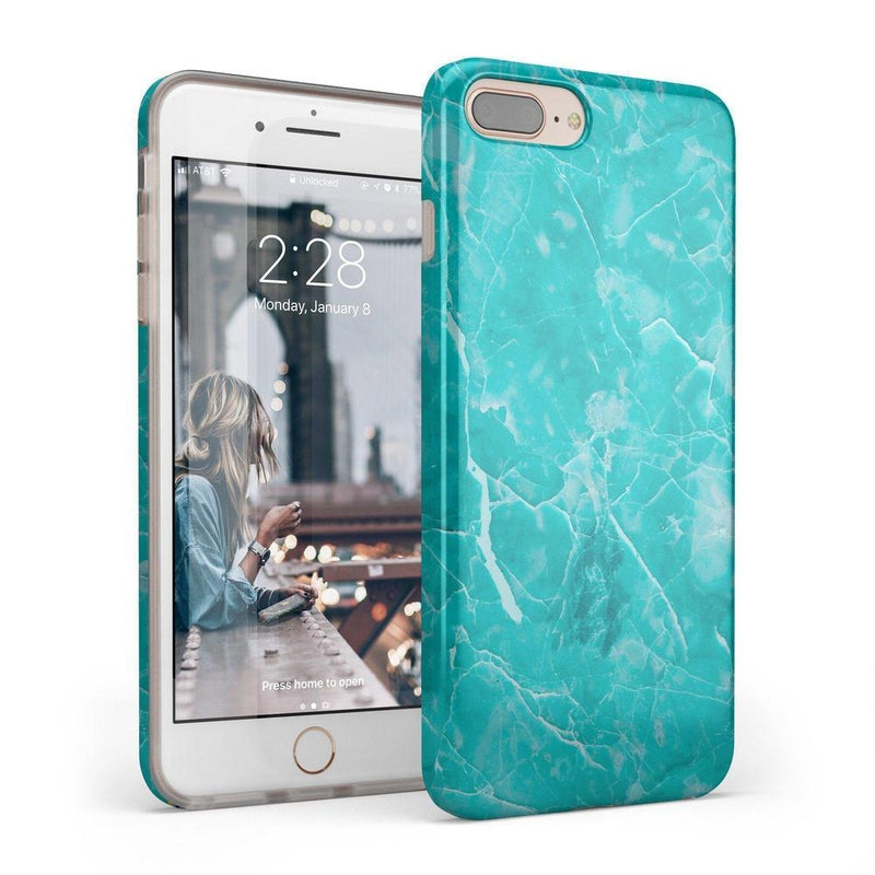 Beautiful Teal Blue Seaglass Case iPhone Case Get.Casely Classic iPhone 6/6s Plus