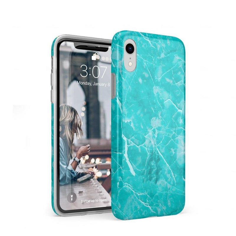 Beautiful Teal Blue Seaglass Case iPhone Case Get.Casely Classic iPhone XR
