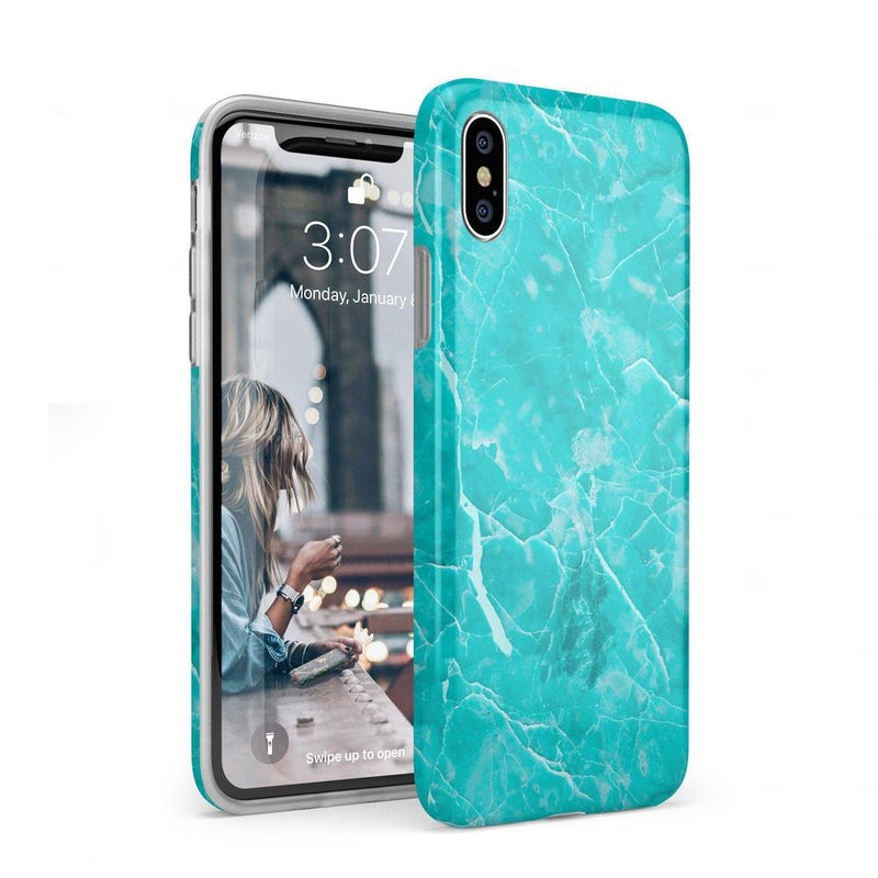 Beautiful Teal Blue Seaglass Case iPhone Case Get.Casely Classic iPhone XS Max