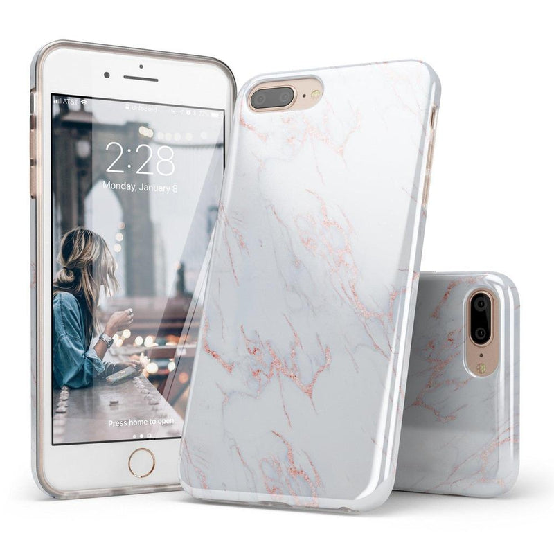 Beautiful White and Pink Marble Case iPhone Case Get.Casely