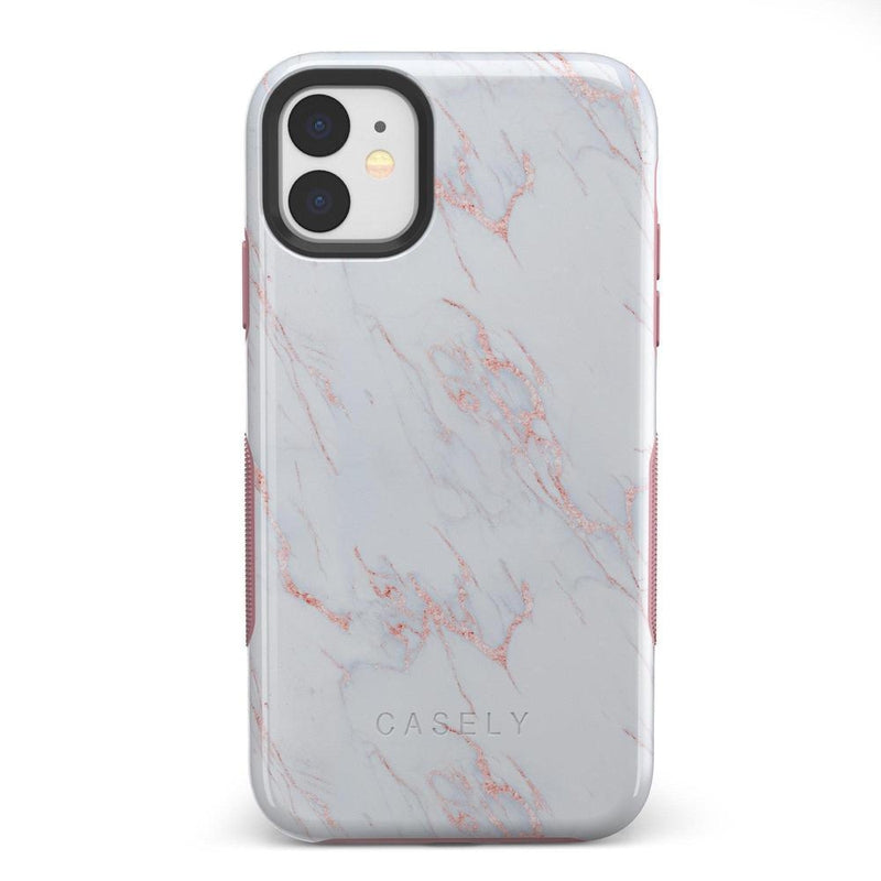 Beautiful White and Pink Marble Case iPhone Case Get.Casely Bold iPhone 11