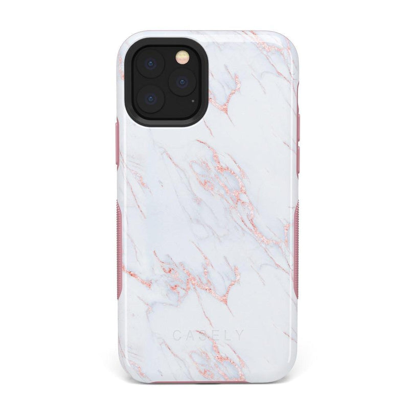 Beautiful White and Pink Marble Case iPhone Case Get.Casely Bold iPhone 11 Pro